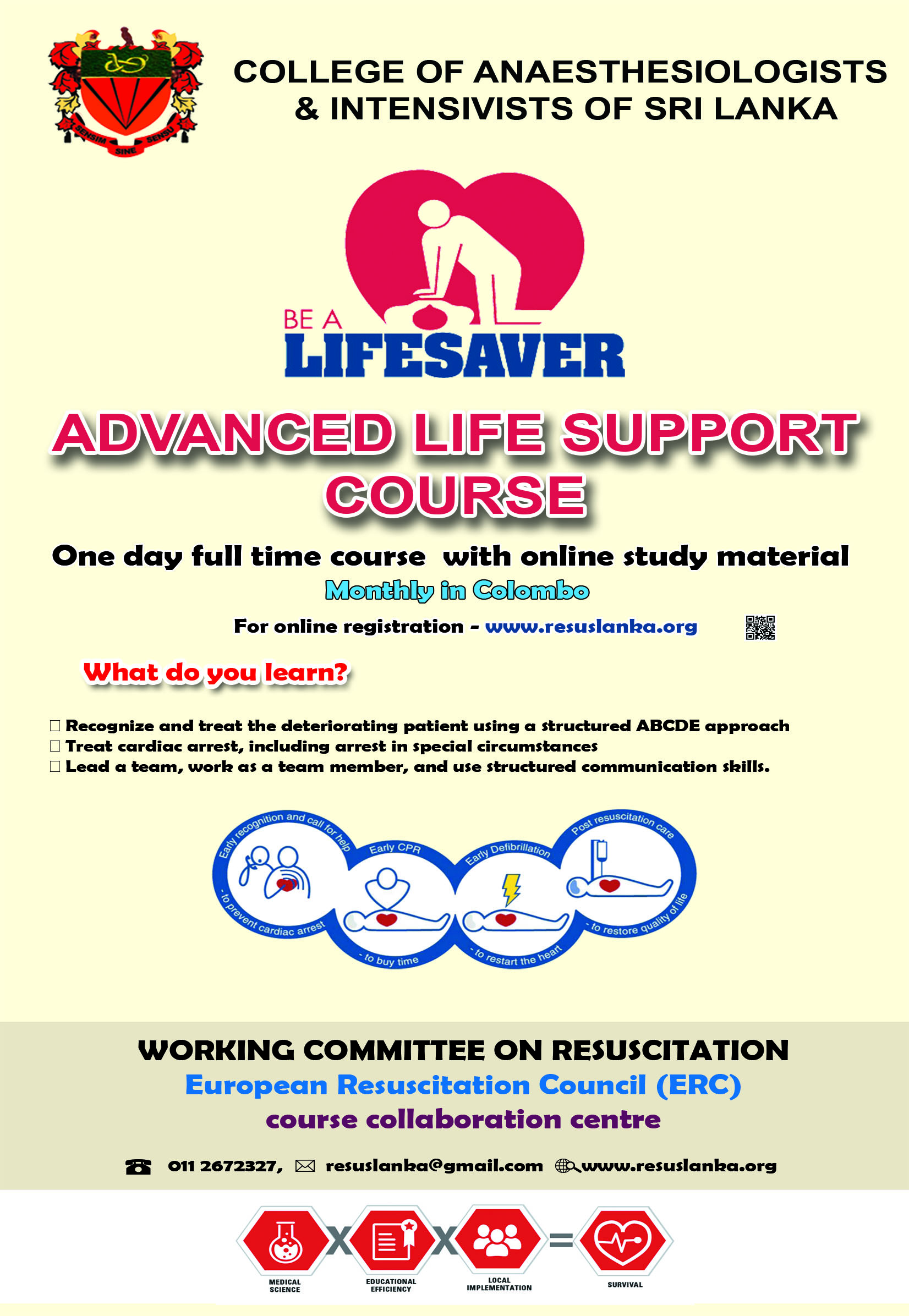 Cpr Certification Course Pre Intern May 2018 Working Committee